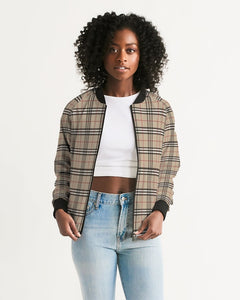 Renaissance Plaid Women's Bomber Jacket
