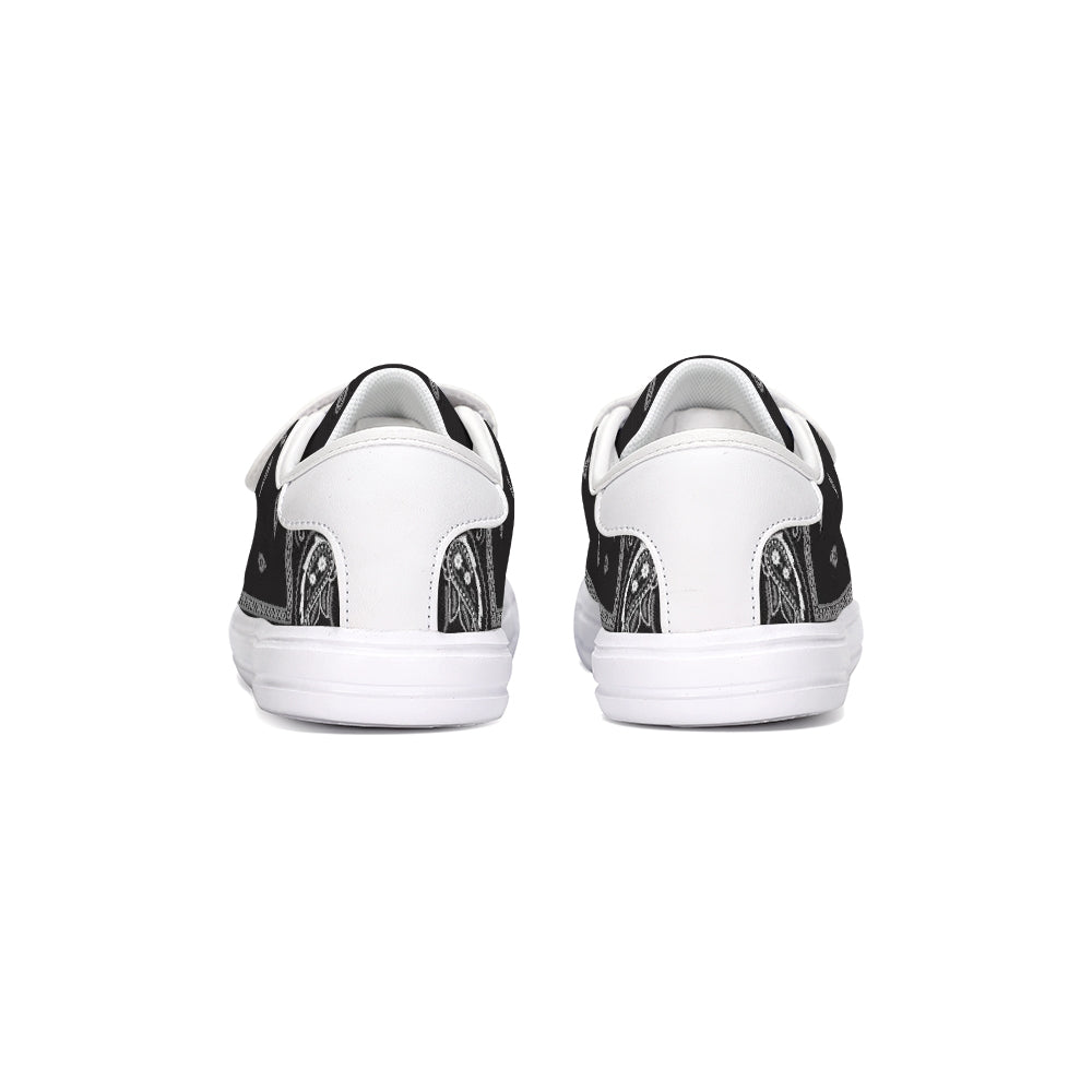 HeavenRazah Signature Logo Black Bandana Kids Velcro Sneakers HRMI HellRazah Music Inc