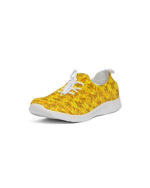Golden Camo Men's Lace Up Flyknit Shoe