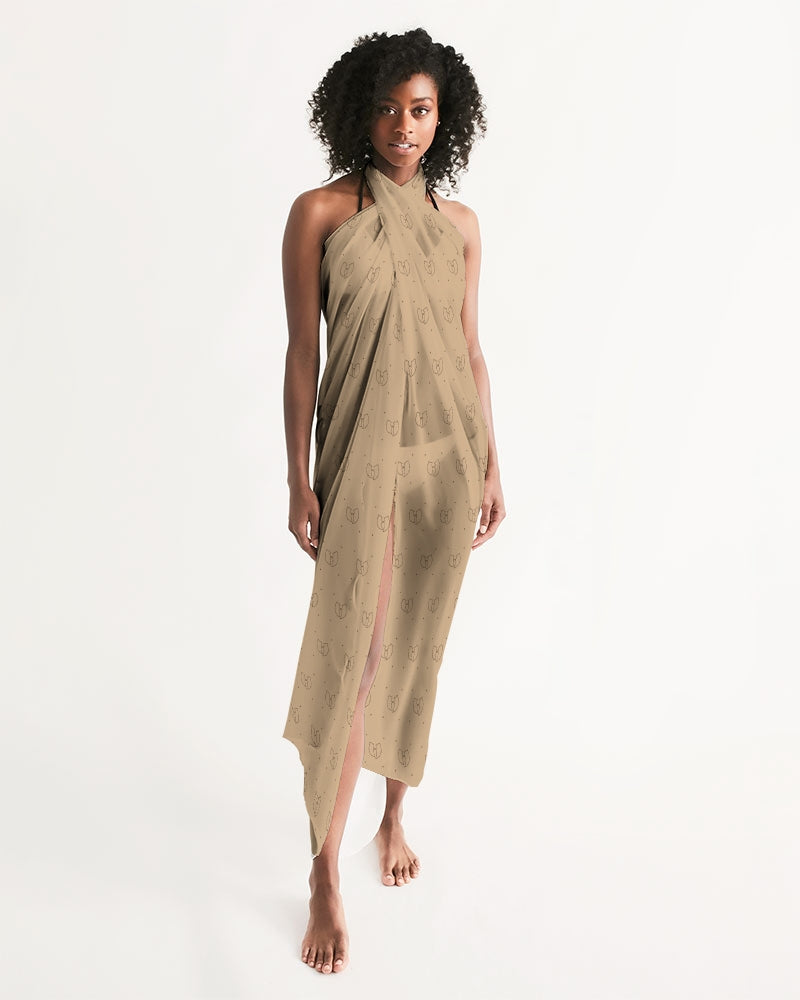 Renaissance Apparel Beige Designer Loungewear - Swim Cover Up