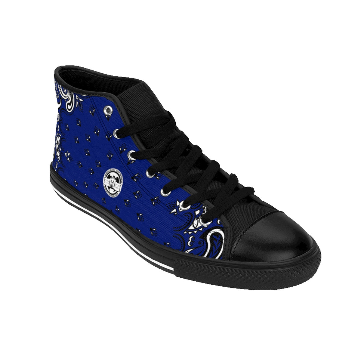 Ghetto Gov't Officialz Blue Bandana Logo Designer Shoes Heaven Razah / Hell Razah Kicks Men's High-top Sneakers