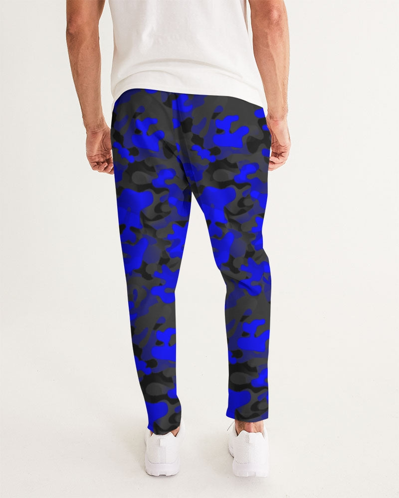 Blue Camo HRMI Logo Men's Joggers HellRazah Music Inc - HeavenRazah