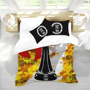 Razah Renaissance Apparel CHECKMATE Queen Duvet Cover Set