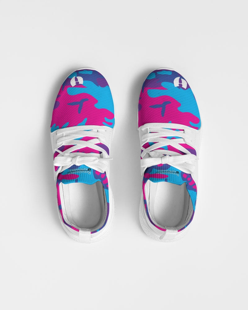 Limited Edition Grape Camouflage Women's Two-Tone Sneaker