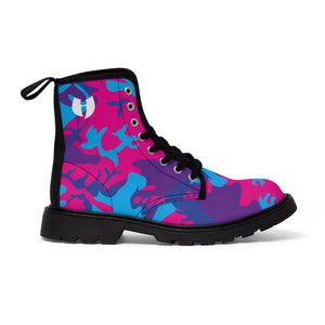 Grape Camo Women's Canvas Boots