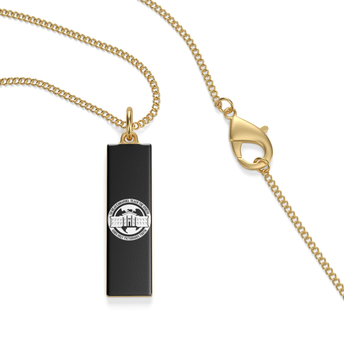 Ghetto Gov't Officialz Logo 18k Gold Plated & Sterling Silver Single Loop Necklace Heaven Razah - Hell Razah