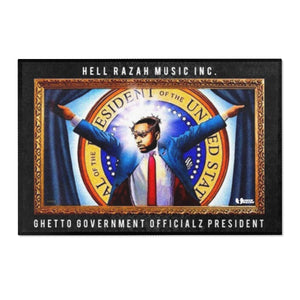 Hell Razah Music Inc. Ghetto Gov't Officialz President Collectible Area Rug