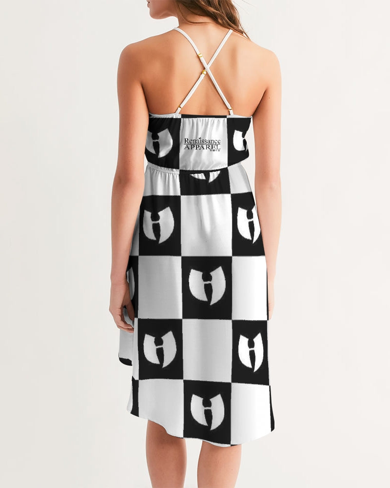 Renaissance Apparel Razah Chessboard Women's High-Low Halter Dress