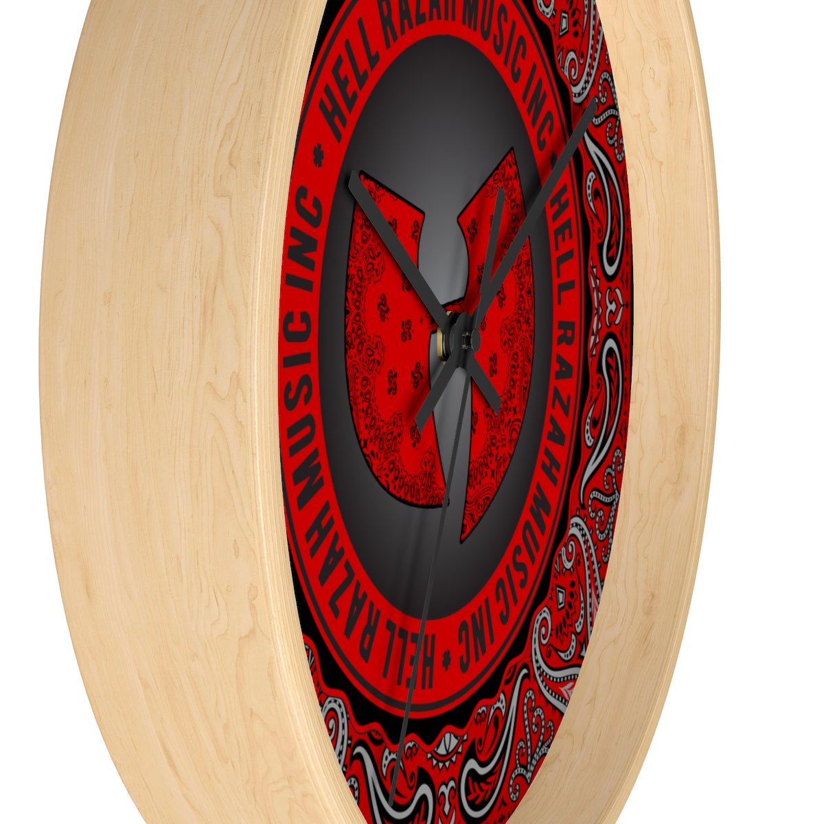 Official Hell Razah Music Inc Red Bandana Logo Limited Edition Collectors Wall Clock Heaven Razah Graphics by Culture Freedom