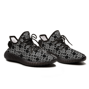 Renaissance Smoke Unisex Black Breathable Lace-up Sneakers