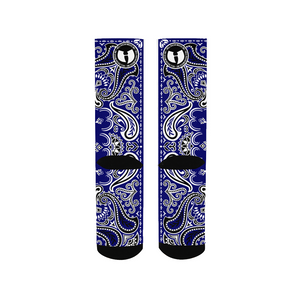 HRMI HellRazah Music Inc Blue Bandana Logo Official HeavenRazah Men's Collectible Socks
