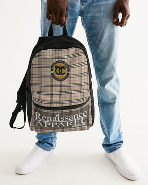 Renaissance Plaid Small Canvas Backpack