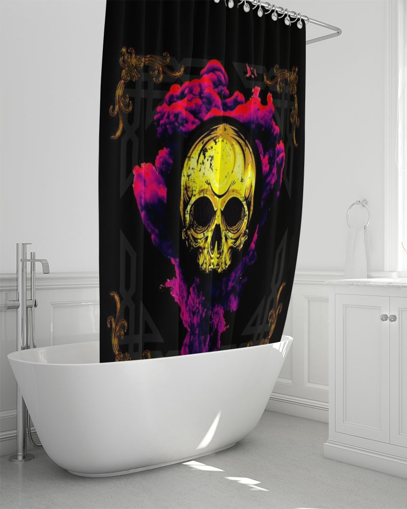 "Renaissance Smokin' Skull Shower Curtain 72""x72"""