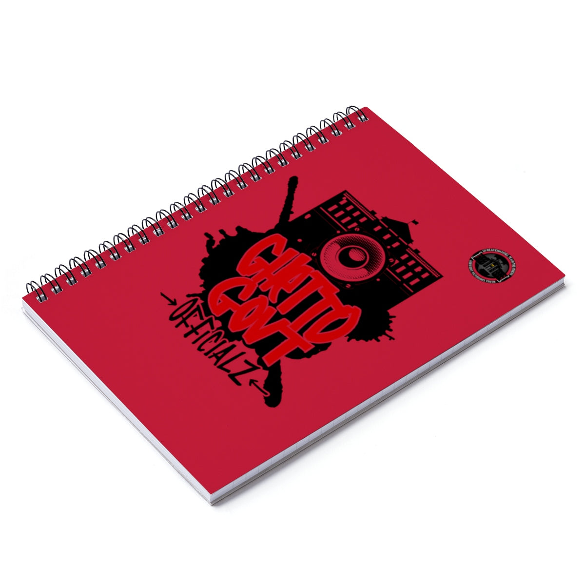 Ghetto Gov't Officialz Spiral Notebook - Ruled Line HeavenRazah - HellRazah Graphics by iHustle365