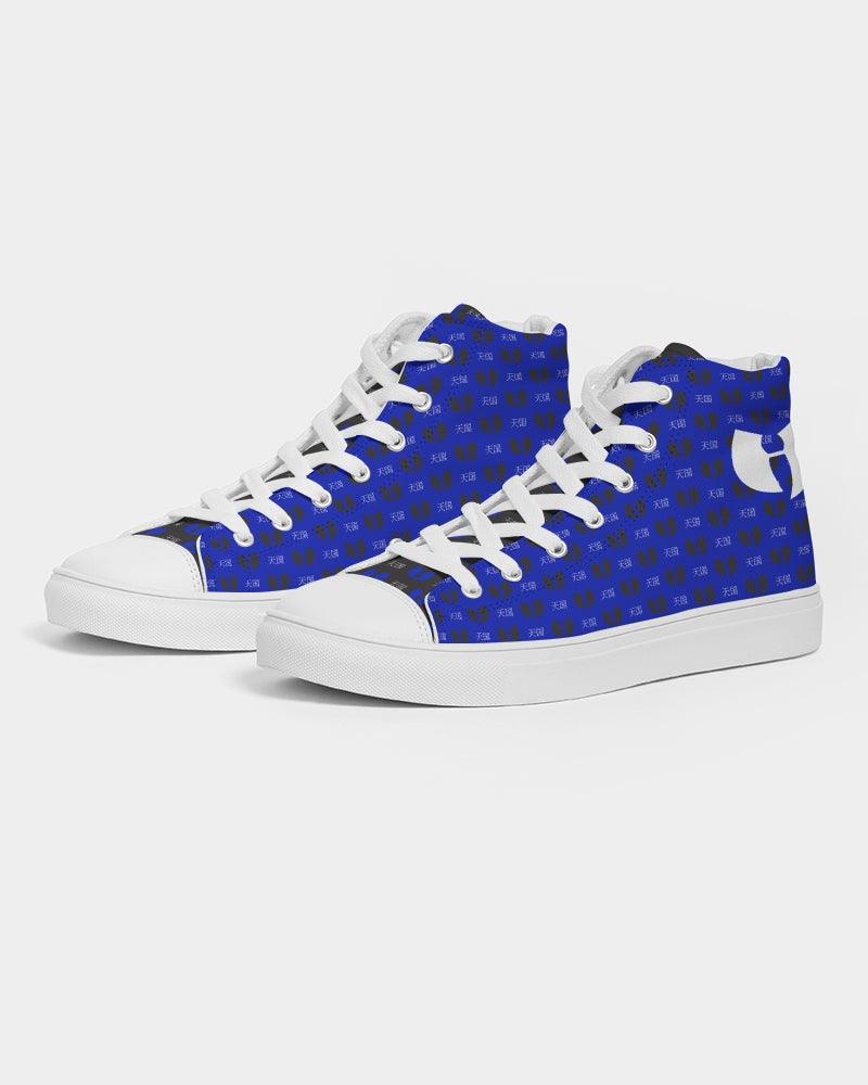 Renaissance Blue Samurai Men's Hightop Canvas Shoe