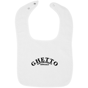 Ghetto Gov't Officialz Embroidered GGO Rabbit Skins Infant Terry Snap Bib