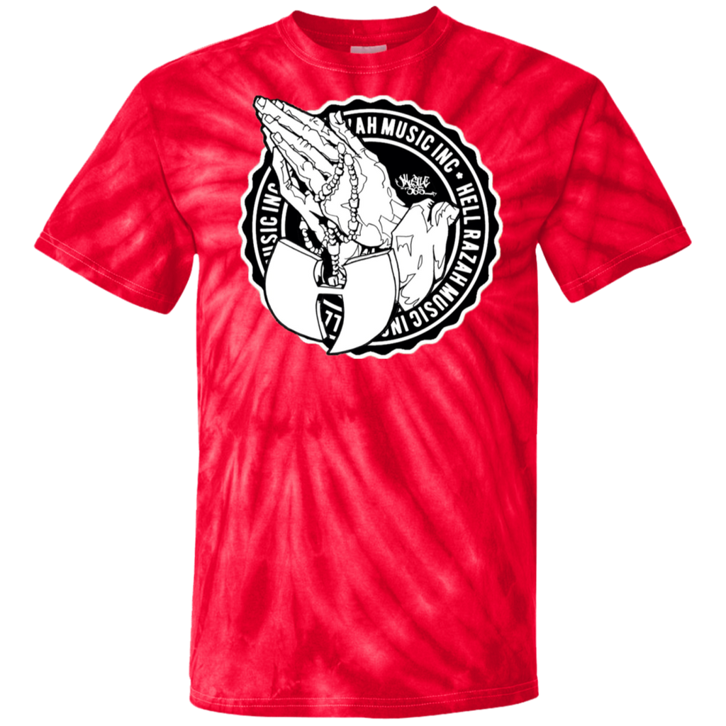 HRMI Blessed HellRazah Music Inc 100% Cotton Tie Dye T-Shirt HeavenRazah Graphics by iHustle365