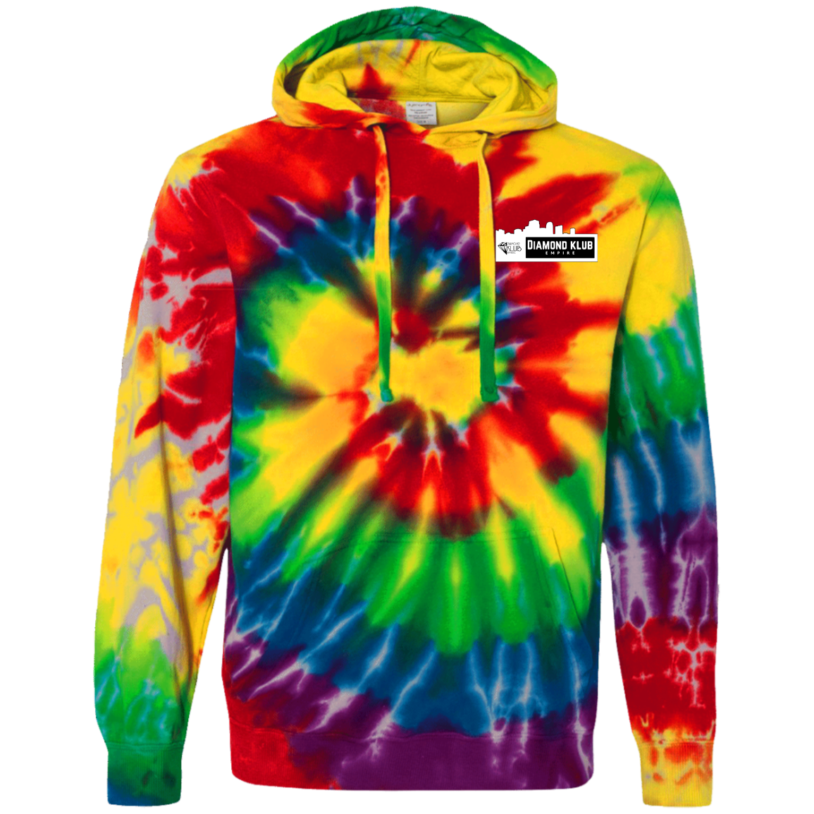 Diamond Klub Empire Logo Embroidered Tie-Dyed Pullover Hoodie