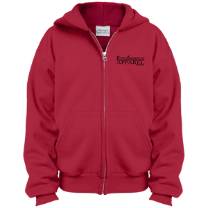 Renaissance Apparel Signature Embroidered Youth Full Zip Hoodie