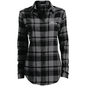 Ghetto Gov't Officialz Embroidered GGO Apparel Ladies' Plaid Flannel Tunic