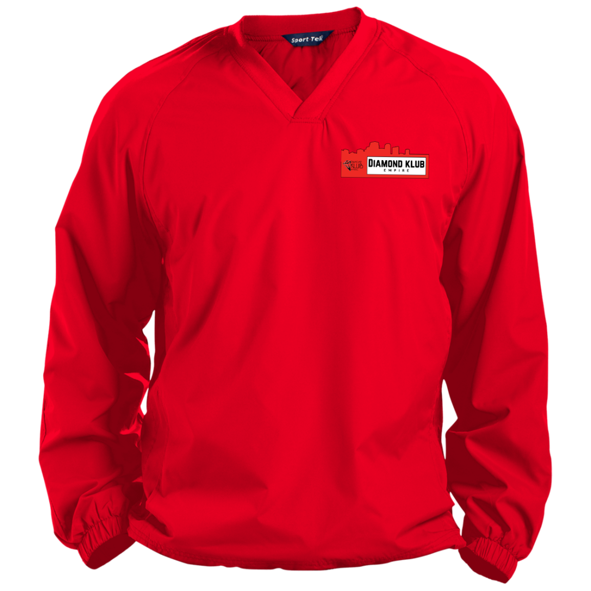Diamond Klub Empire Red Embroidered Logo Pullover V-Neck Windshirt