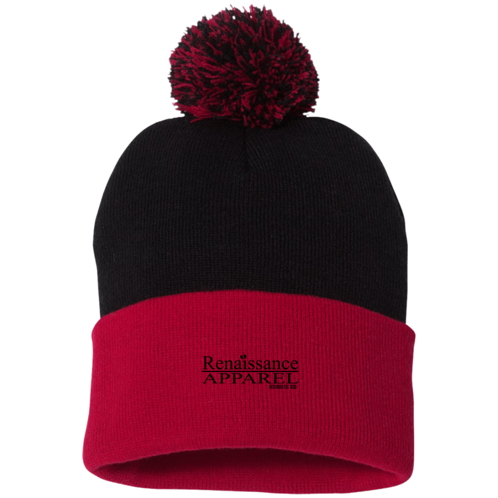 Renaissance Apparel Signature Embroidered Sportsman Pom Pom Knit Cap