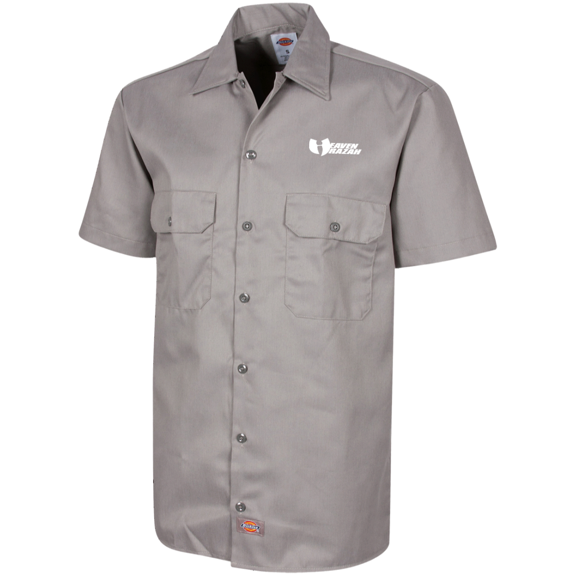HRMI HeavenRazah Name Logo HellRazah Music Inc. Dickies Men's Short Sleeve Workshirt Graphics by Culture Freedom
