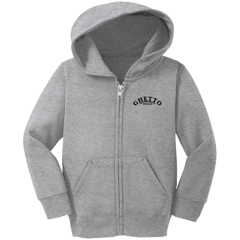 GGO Embroidered Logo Precious Cargo Toddler Full Zip Hoodie 2T - 3T - 4T Ghetto Gov't Officialz