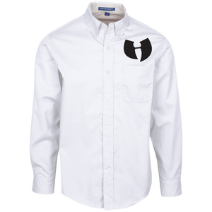 HRMI Razah H Embroidered Logo Men's LS Dress Shirt HellRazah Music Inc. HeavenRazah