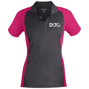 DOC Cuff Logo Embroidered Sport-Tek Ladies' Colorblock Sport-Wick Polo Diamondz Original Clothing