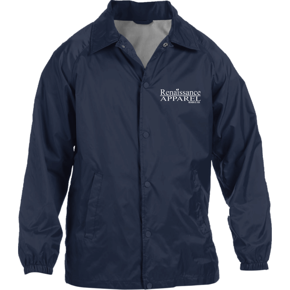 Renaissance Apparel Signature Embroidered  Nylon Staff Jacket