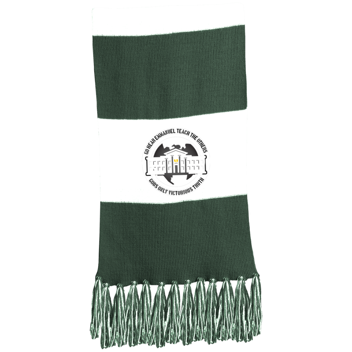 GGO Ghetto Gov't Officialz Logo 3 Sport-Tek Fringed Scarf HeavenRazah - HRMI