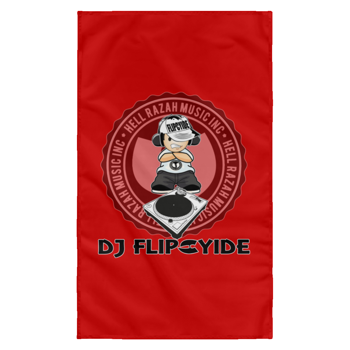 Official DJ Flipcyide HRMI Sublimated Wall Flag