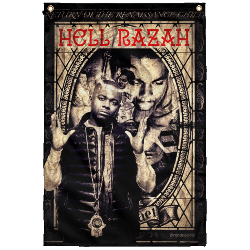 HRMI - Renaissance Child - HellRazah Music Inc. - HeavenRazah Collectible Sublimated Wall Flag