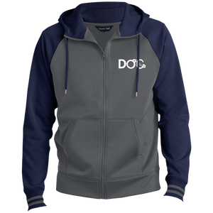 DOC Cuff Logo Embroidered Designer Sport-Tek Men's Sport-Wick® Full-Zip Hooded Jacket Diamondz Original Clothing