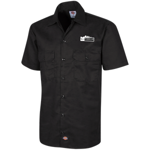 Diamond Klub Apparel White Embroidered Logo Dickies Men's Short Sleeve Workshirt