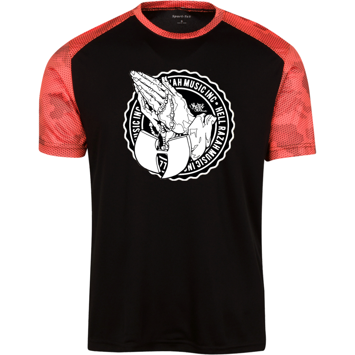 HRMI Blessed Logo Youth CamoHex Colorblock T-Shirt Official HellRazah Music Inc. - HeavenRazah