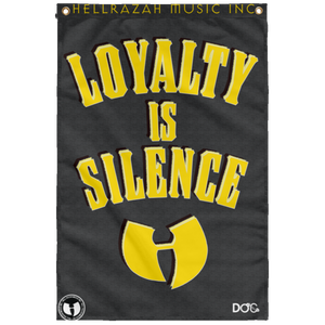 HRMI - LOYALTY IS SILENCE - HellRazah Music Inc. - HeavenRazah Collectible Sublimated Wall Flag