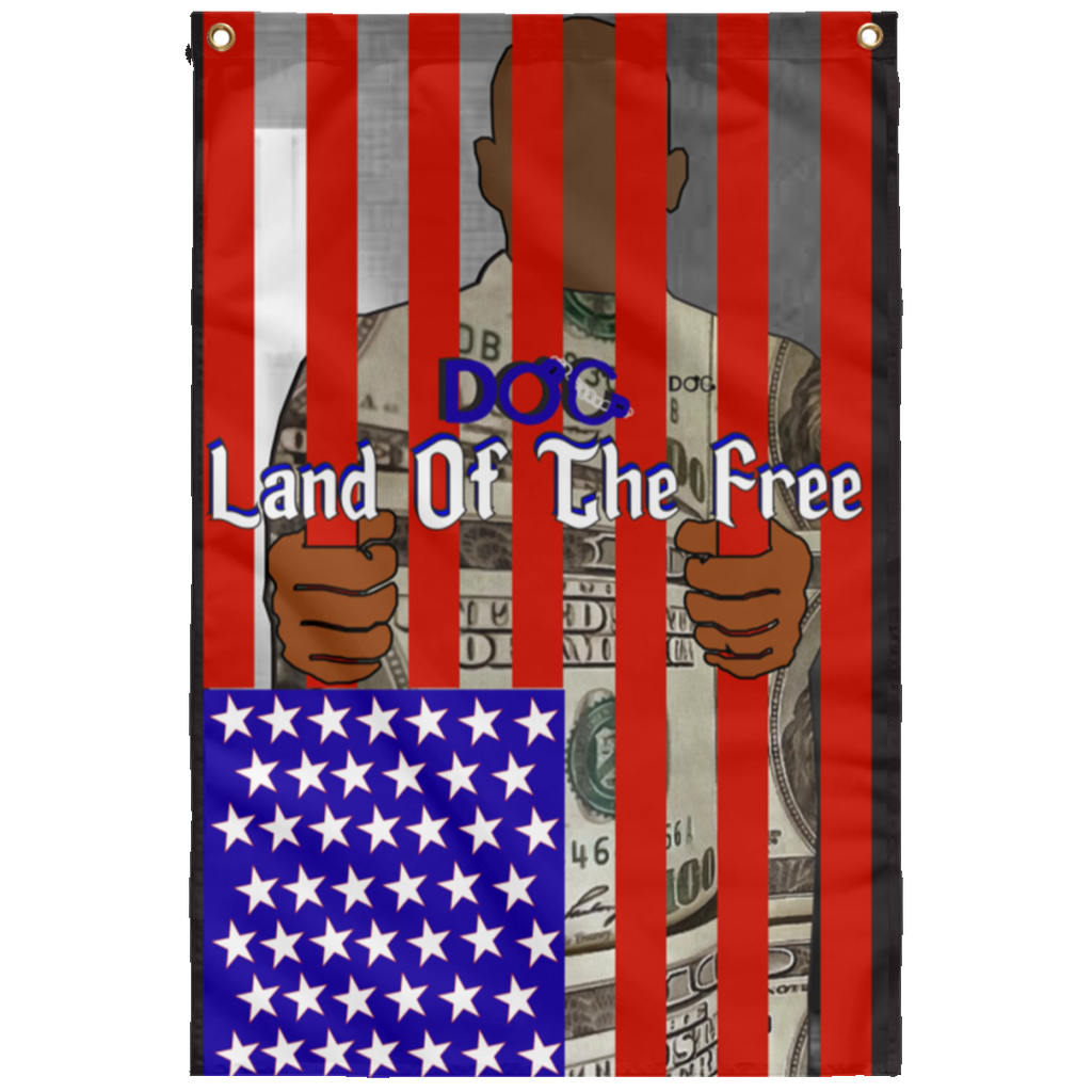 Land of the Free - Home of the Slave Sublimated Wall Flag