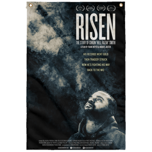 HRMI -  Risen Documentary Design 1 - HellRazah Music Inc. - HeavenRazah Collectible Sublimated Wall Flag