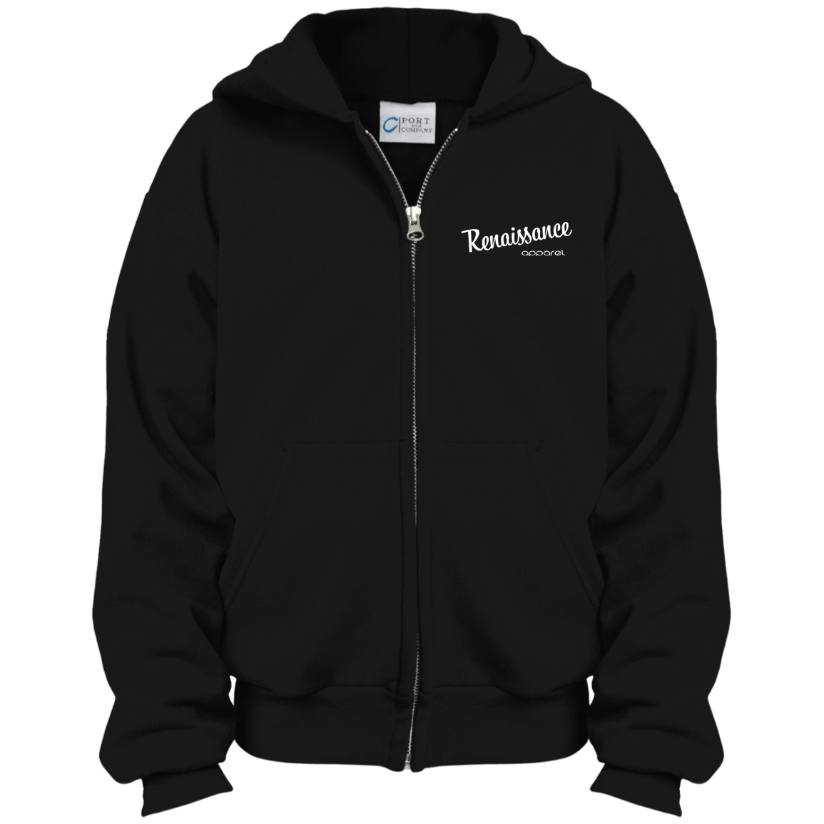 Razah Renaissance Apparel Embroidered Port & Co. Youth Full Zip Hoodie