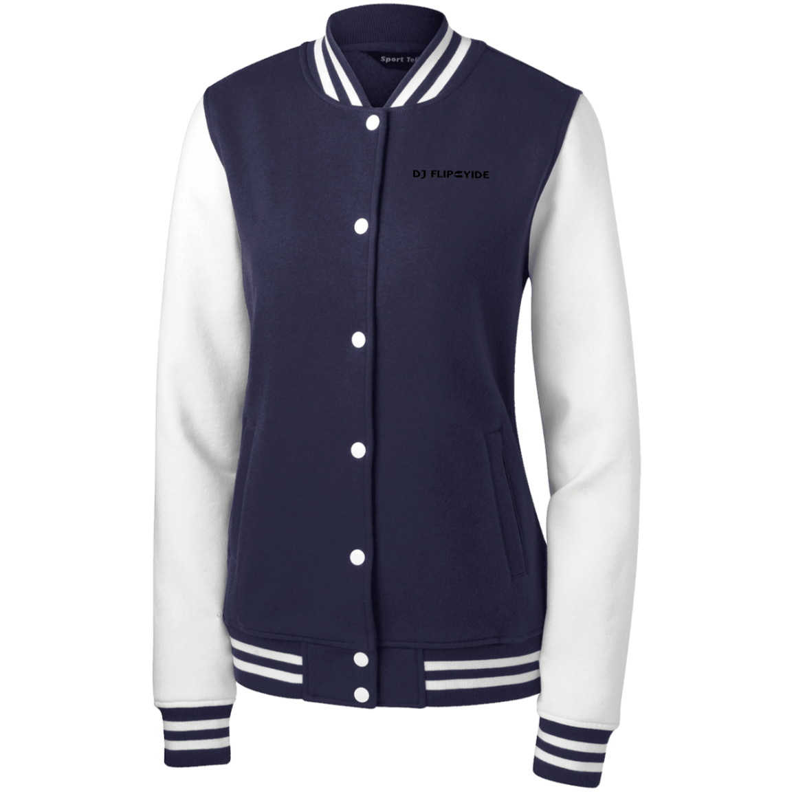 Official DJ FlipCyide Embroidered Sport-Tek Women's Fleece Letterman Jacket