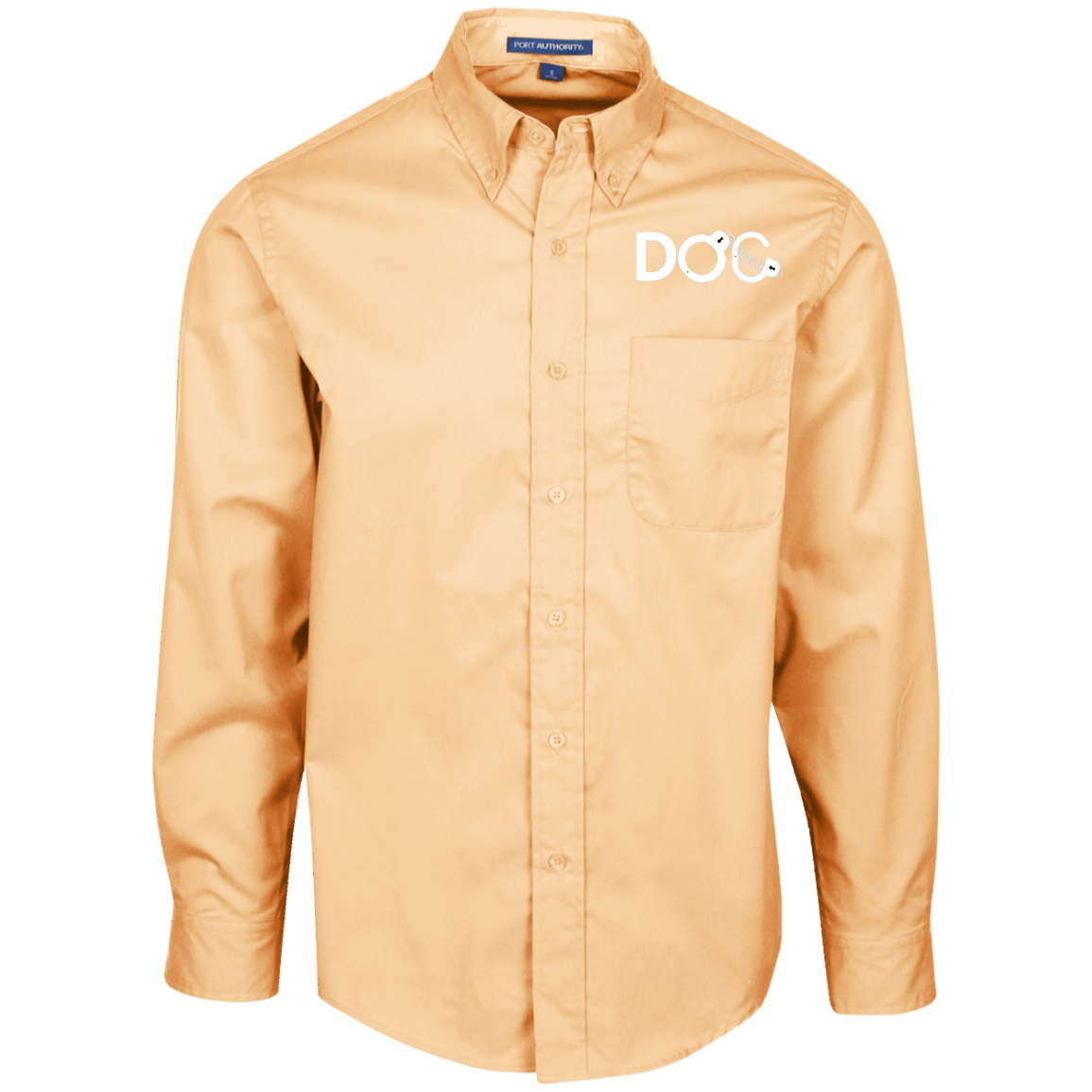 DOC Cuff Logo Designer Men's LS Dress Shirt Button Up Diamondz Original Clothing