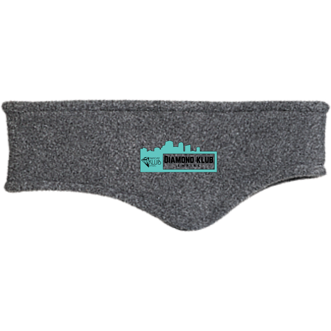 Diamond Klub Empire Turquoise Logo Embroidered Fleece Headband