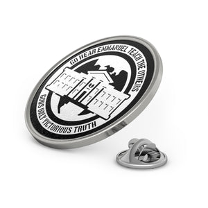 Ghetto Gov't Officialz Logo Designer Silver - Pewter Metal Lapel Pin