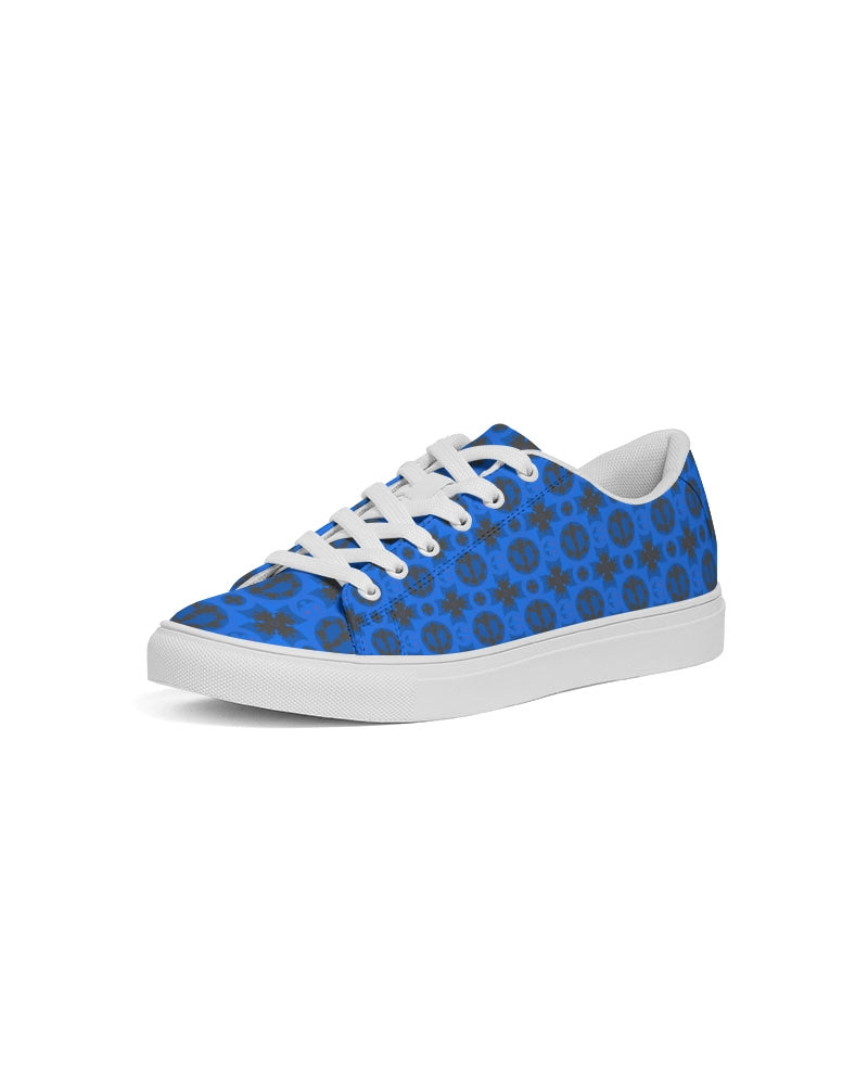Renaissance Blue Azure Women's Faux-Leather Sneaker