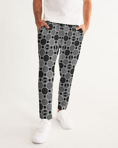 HRMI Gray Patterned Men's Joggers