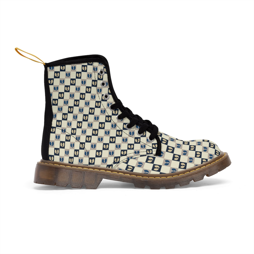 Safari Chessboard Men's Canvas Boots