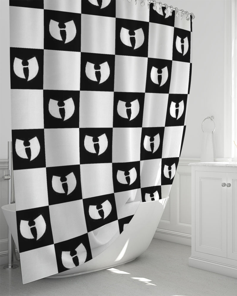 "Renaissance Apparel Razah Chessboard Shower Curtain 72""x72"""