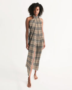Renaissance Apparel Designer Plaid Swim Cover Up